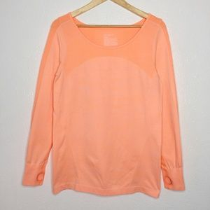 ZELLA Bright Sherbet Pullover with Thumb Holes Top